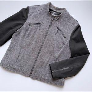 Alfani Moto Utility Zippered Jacket Blazer Coat